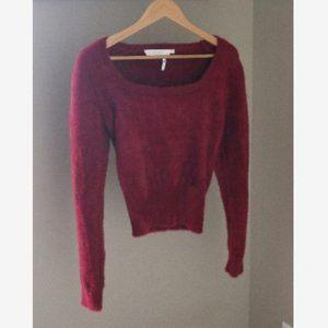 ASTR the Label Fuzzy Crop Sweater Boho